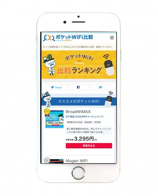 ポケットWi-Fi比較のクラウェブ